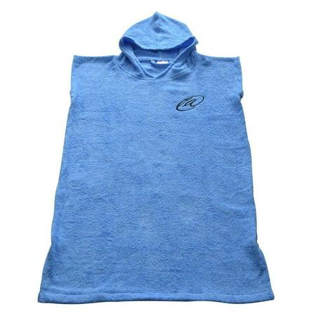 5662981354 Lightahead® - Lightahead Cotton Surf Beach Hooded Poncho Changing Bath Robe  Towel with Pocket (Blue) (Child XS) - Walmart.com