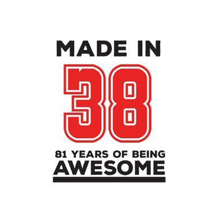 Made In 38 81 Years Of Being Awesome : Made In 38 81 Years Of Awesomeness Notebook - Happy 81st Birthday Being Awesome Anniversary Gift Idea For 1938 Young Kid Boy or Girl! Doodle Diary Book From Dad Mom To Eighty One Year Old Son