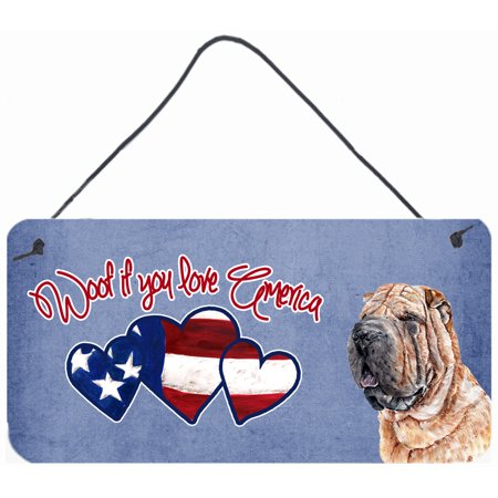 Woof if you love America Shar Pei Wall or Door Hanging Prints SC9895DS612