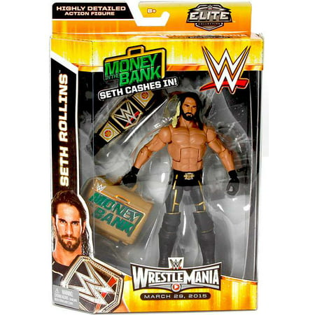 Seth Rollins Action Figure Money in the Bank Elite Wrestlemania (Wwe Wrestlemania 24 Money In The Bank)