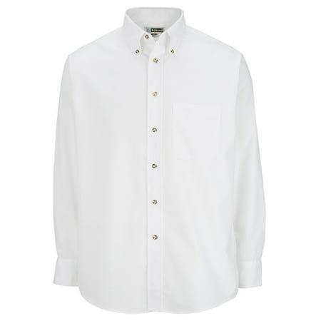 Ed Garments Men's Long Sleeve Button Down Poplin Shirt, WHITE, XX-Large