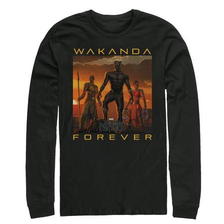 739365bfc fifth-sun - marvel men's black panther 2018 wakanda forever long ...