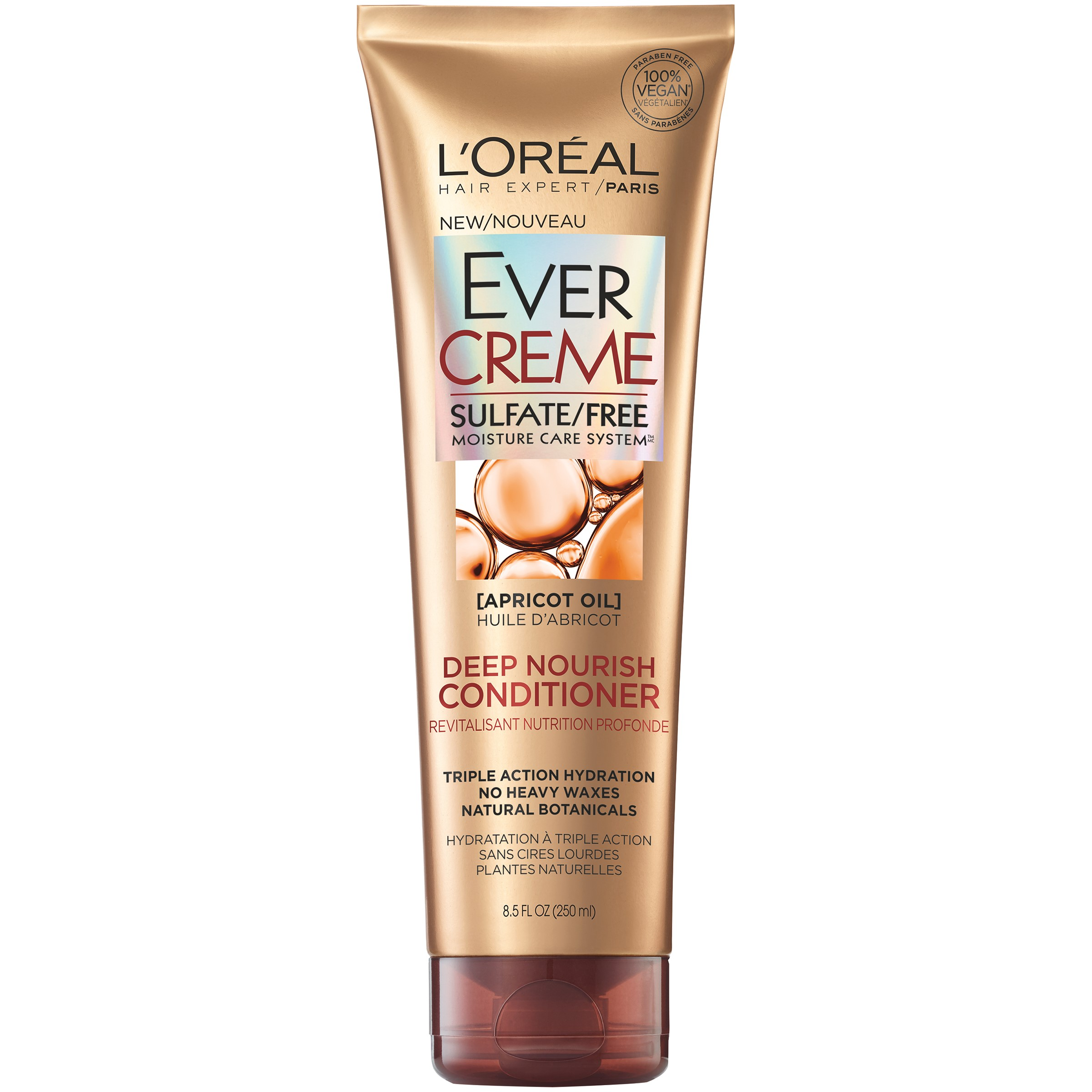L'Oreal Paris EverCreme Deep Nourish Conditioner, Apricot Oil, 8.5 Fl Oz