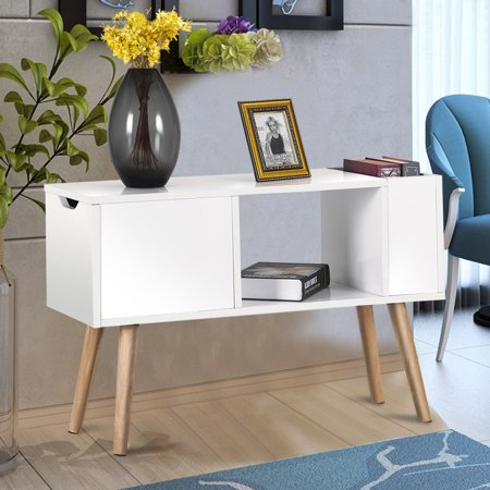 Bedroom Round Side Table - Costway Modern Side Table End Table for Bedroom Living Room Sitting Room Drawer White