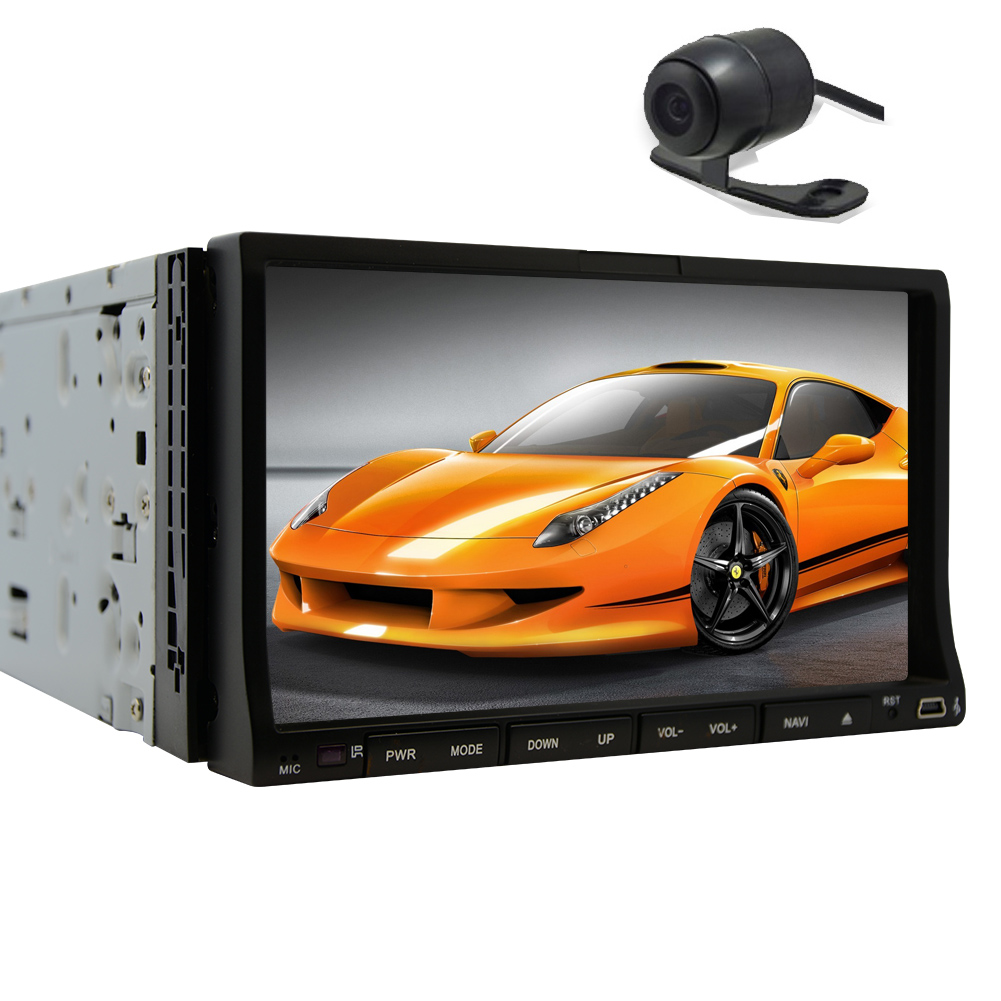 Radio Receiver Autoradio Car DVD Player USB SD GPS Monitor CD VCD 2 Din In Dash Audio Video Headunit Car Stereo Bluetooth Touch Screen Remote control EQ Subwoofer RDS Camera