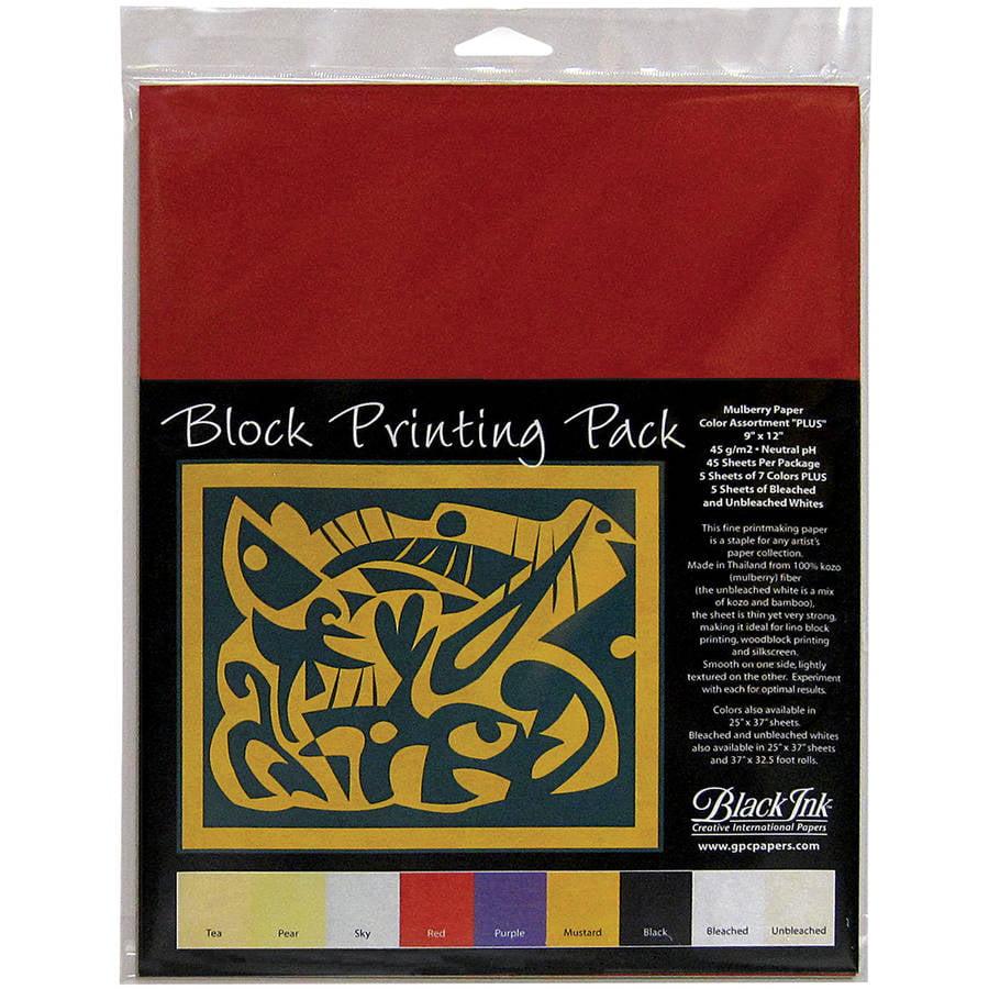 Black Ink Block Printing Packs