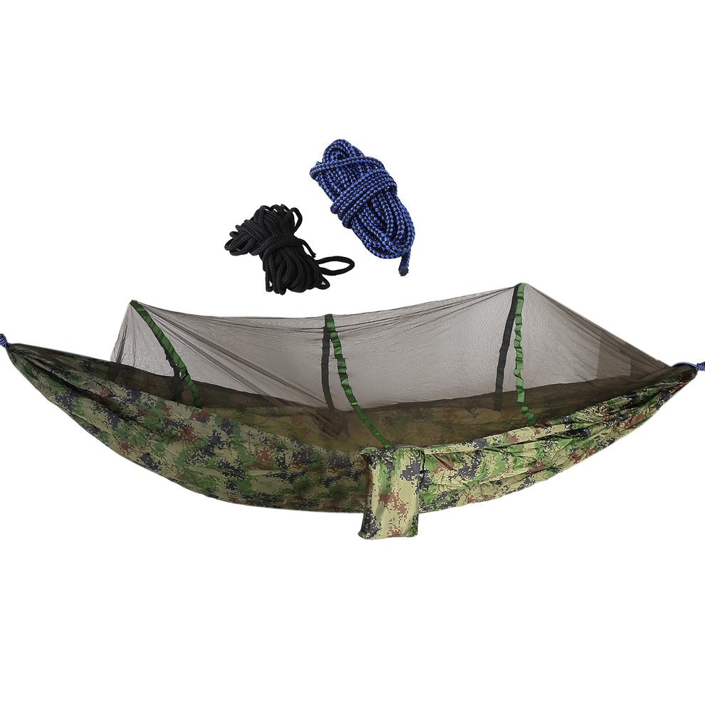 Camping Tent Multicolor Parachute Cloth Hanging Hammock With Mosquito Net by ICOCO
