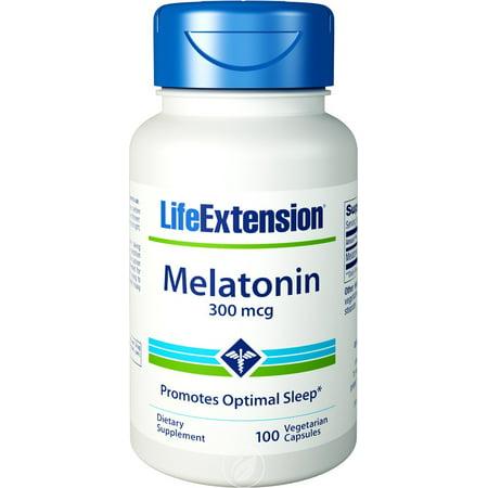 - Life Extension - Melatonin, 300 mcg, 100 Veggie Caps, Pack of 2