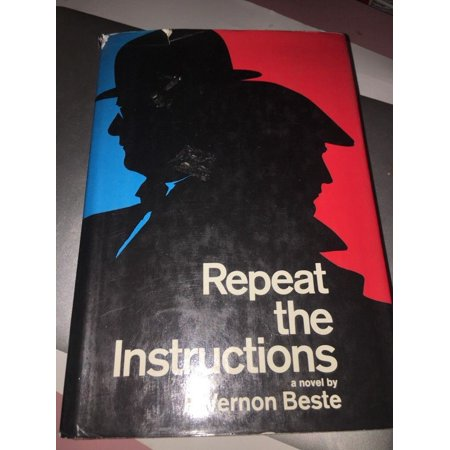 Repeat the Instructions novel by R. Vernon Beste - Harper HC DJ 1967 First Edit (Sound Editing Equipment)
