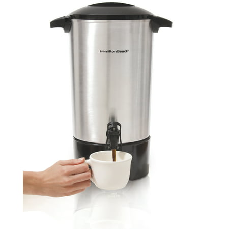 Stainless Steel Commercial Brewer Urn (Hamilton Beach® 45 Cup Coffee Urn with Cup Activated Dispenser | Model# 40516)