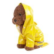 Binmer® Pet Dog Hooded Raincoat Pet Waterproof Puppy Dog Jacket Outdoor Coat Yellow M
