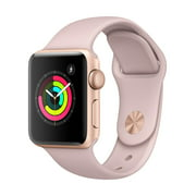 Apple Watch - Series 3 - 38mm - Gold Aluminum Case - Pink Sand Sport Band Refurbished