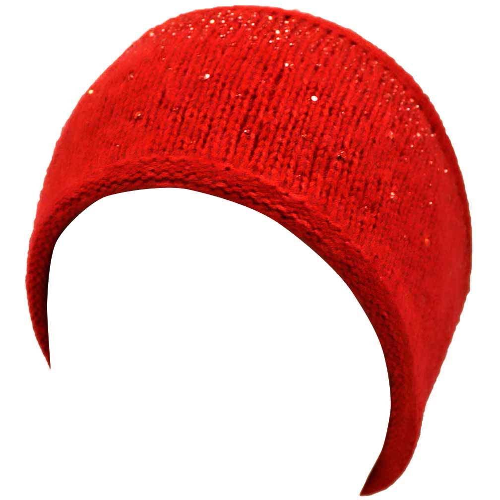 Wide Knit Rhinestone Headband by