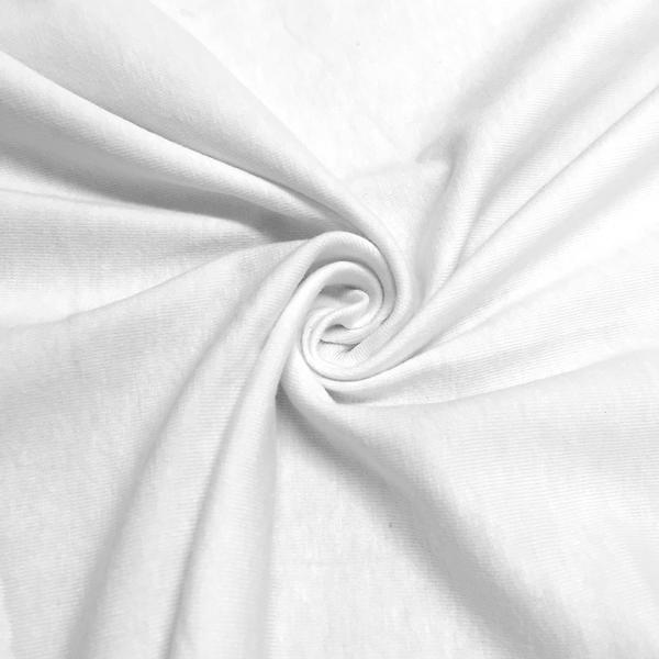 "Cotton Jersey Lycra Spandex knit Stretch Fabric 58/60"" wide (White)"