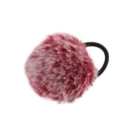 Faux Fur Ball Decor Stretchy Band DIY Hairstyle Hair Tie Ponytail Hairband - Walmart.com