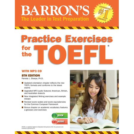 Practice Exercises for the TOEFL with MP3