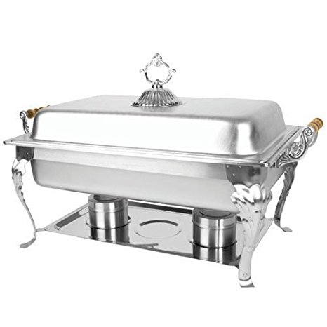 Thunder Group SLRCF8533 Capacity 8-Quart Chafer with Brass Plated Handle, Full Size