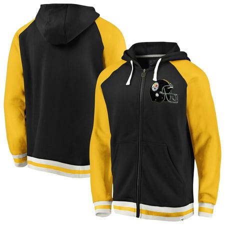 buy online ece75 9b8ae Pittsburgh Steelers NFL Pro Line by Fanatics Branded True Classics Full-Zip  Hoodie - Black/Gold