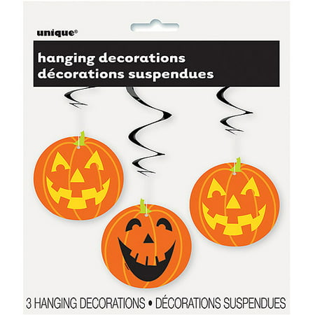 Pumpkin Halloween Hanging Decorations, 26 in, 3ct (Miley Halloween Pumpkins)
