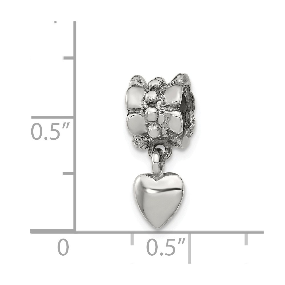 Roy Rose Jewelry Sterling Silver I Love You Lobster Clasp 12mm Heart Locket