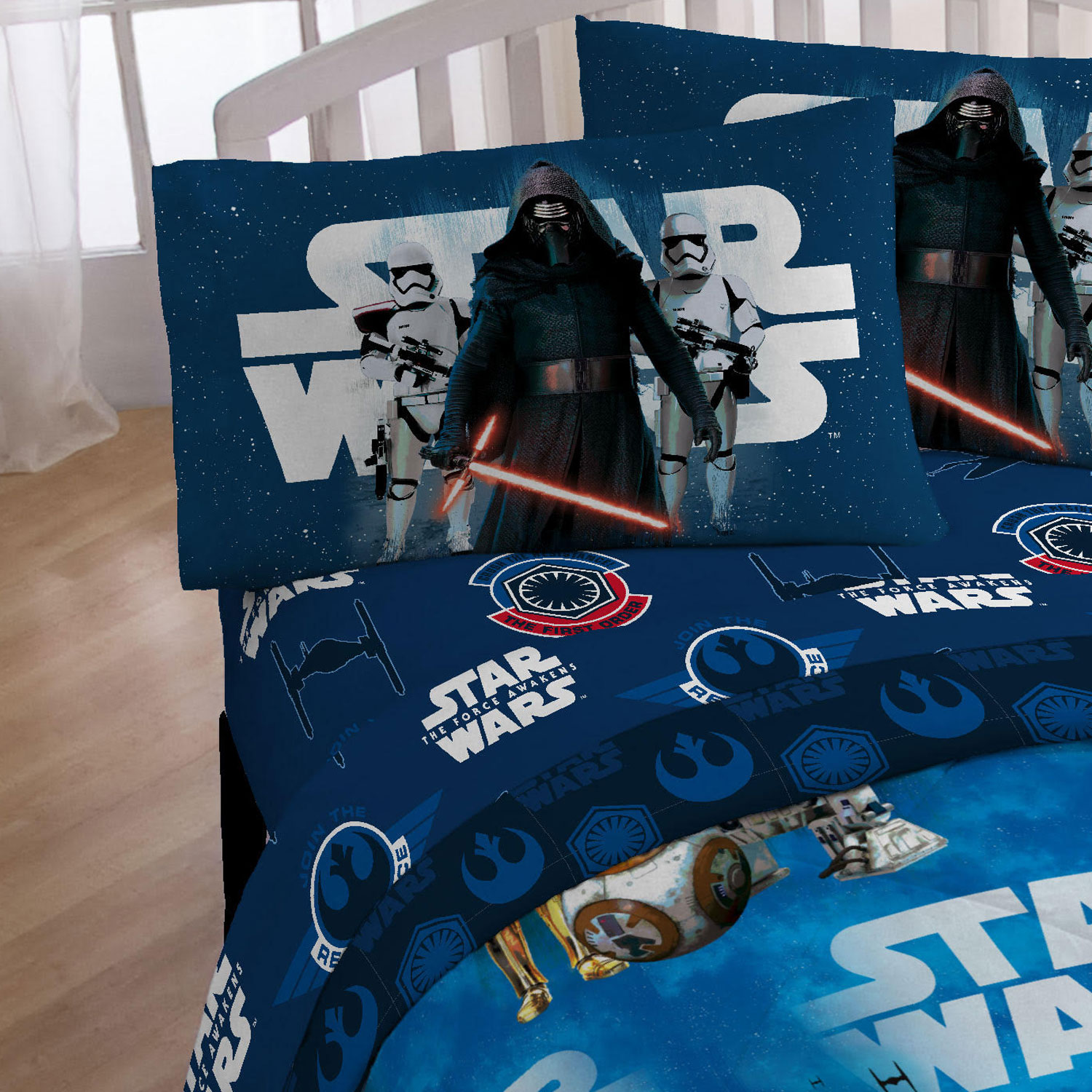 3pc Star Wars Twin Sheet Set Episode 7 Force Awakens Bedding Accessories