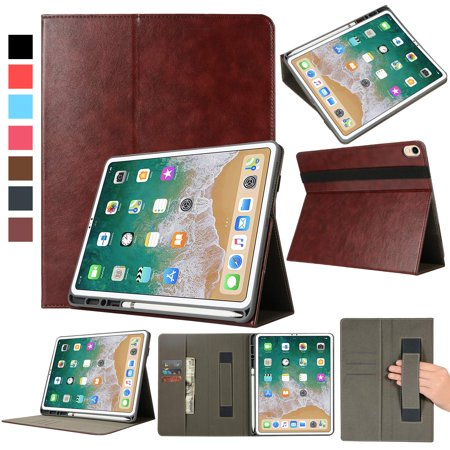 new concept 98fc8 1d811 Smart Case for Apple iPad Pro 12.9 Inch 3rd Gen with Apple Pencil Holder  and Card Slots and Trap, EpicGadget Premium PU Leather Auto Wake/Sleep  Folio ...