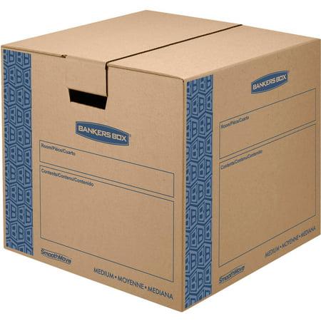Bankers Box SmoothMove Prime Moving Box, Medium, 8pk