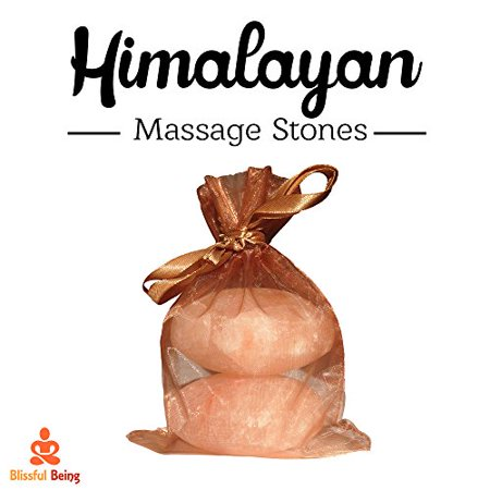 Blissful Being - Himalayan Salt Massage Stones - Himalayan Sea Salt - Pink Himalayan Salt - Stone Massage - Salt Massage Stones - image 1 of 1