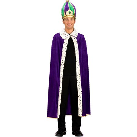 Mardi Gras King Robe & Crown Men's Adult Halloween Costume, 1 Size