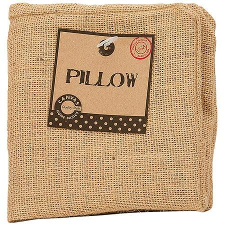 12 X 12 Natural - Burlap Pillow Square 12