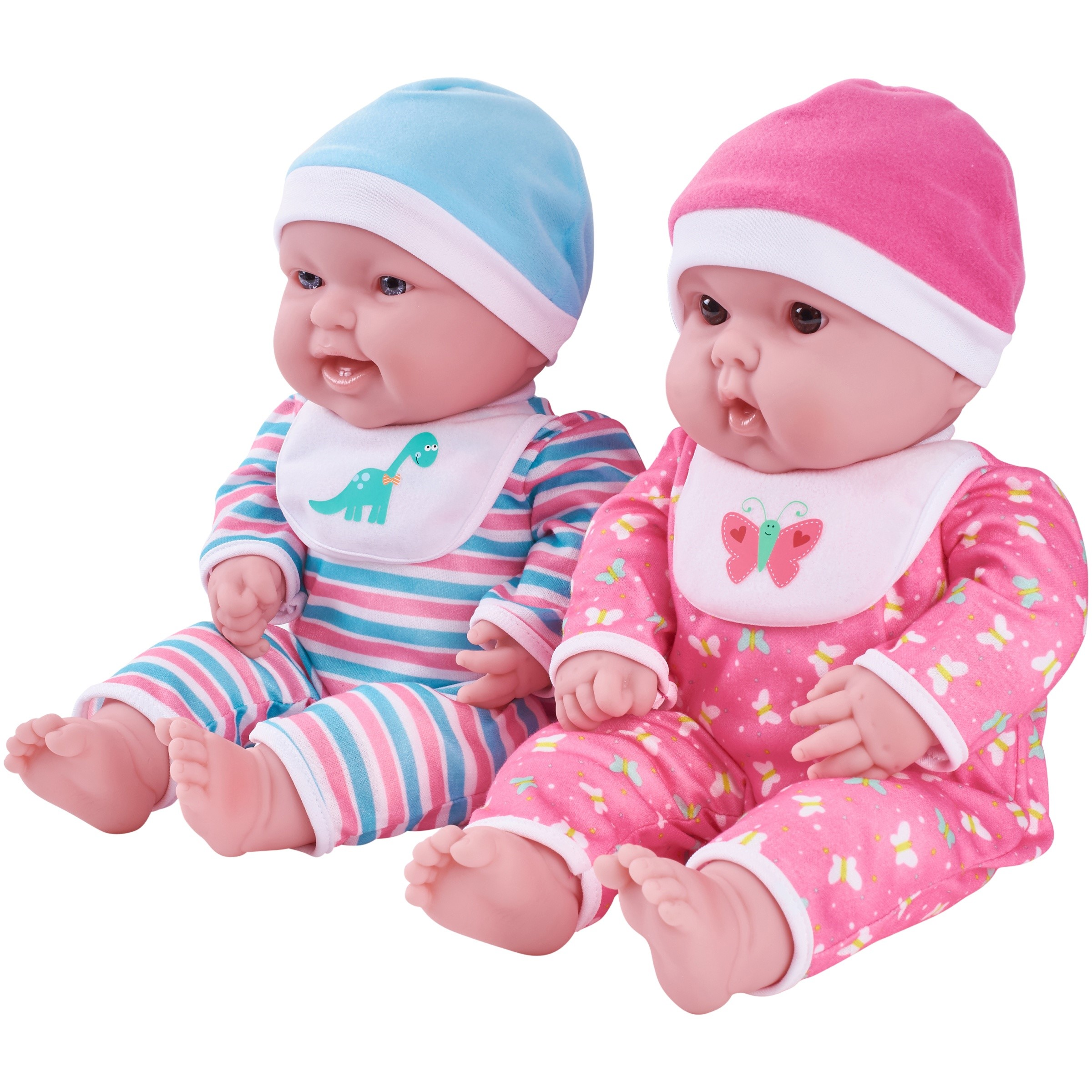 """My Sweet Love 15"""" Twin Baby Dolls with Coordinating Outfits"""