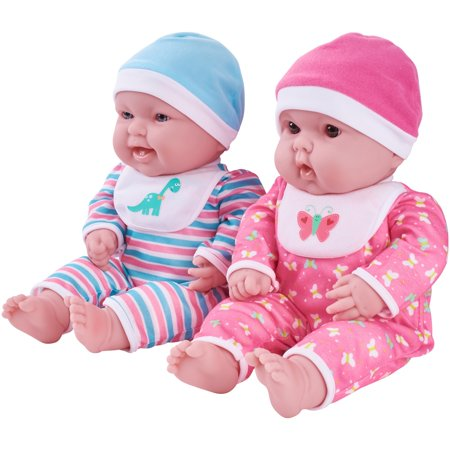 "My Sweet Love 15"" Twin Baby Dolls with Coordinating Outfits"