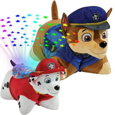 - Pillow Pets Nickelodeon Paw Patrol Combo Pack-Chase Pillow Pet and Marshall Sleeptime Lite