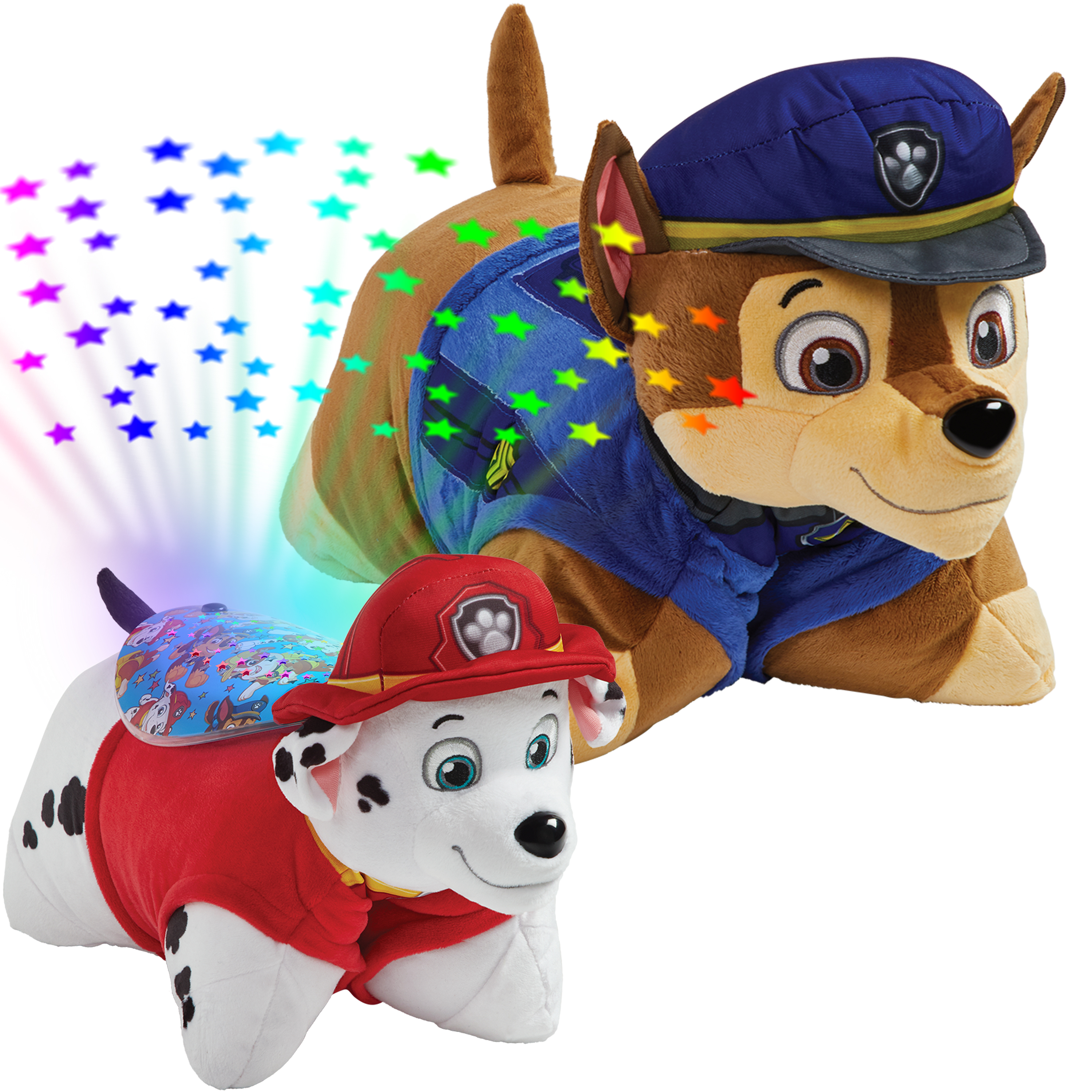 Pillow Pets Nickelodeon Paw Patrol Combo Pack-Chase Pillow Pet and Marshall Sleeptime Lite