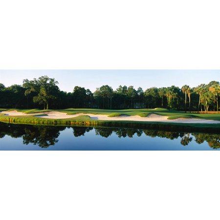 Walls 360 Peel & Stick Golf Wall Decal: Lake in Kiawah Island Golf Resort (54 in x 20 in) (Lake Lanier Decal)