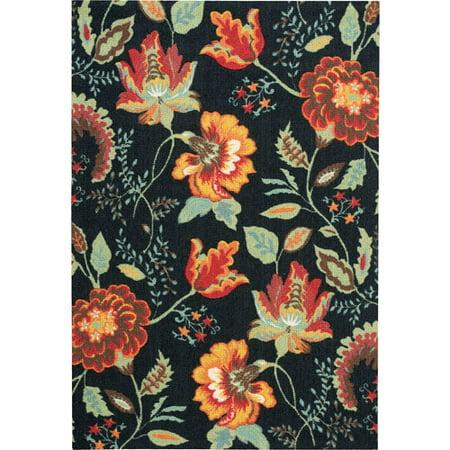 Nourison Vista Floral/ Paisley Perennial Decorative Rug
