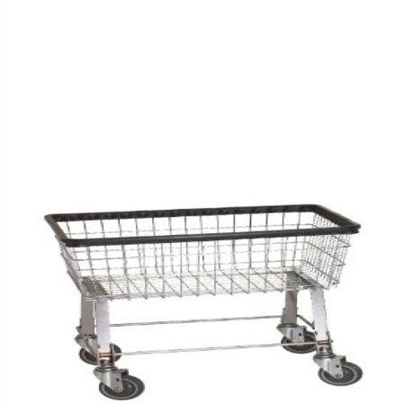 R&B Wire 96B Light-Duty Wire Frame Metal Laundry Cart - Chrome