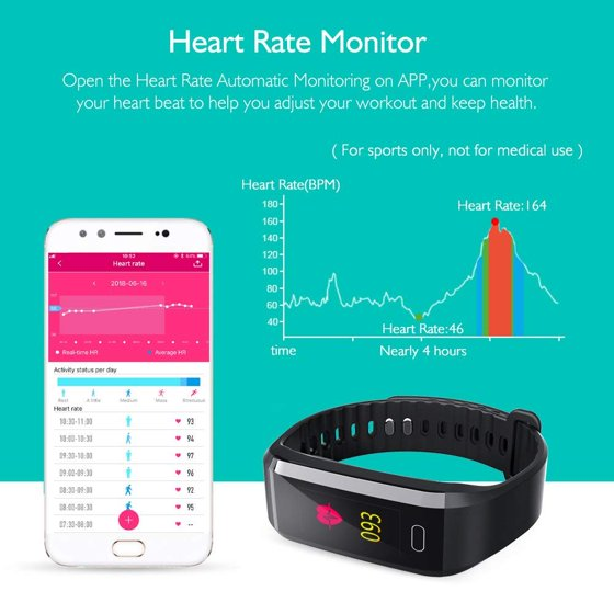 akaso fitness tracker  AKASO Fitness Tracker HR, Waterproof Activity Tracker with Heart ...