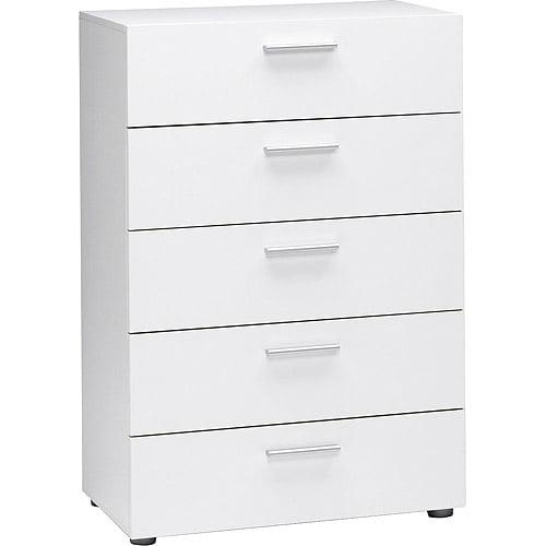 Loft Collection 5-Drawer Dresser, White