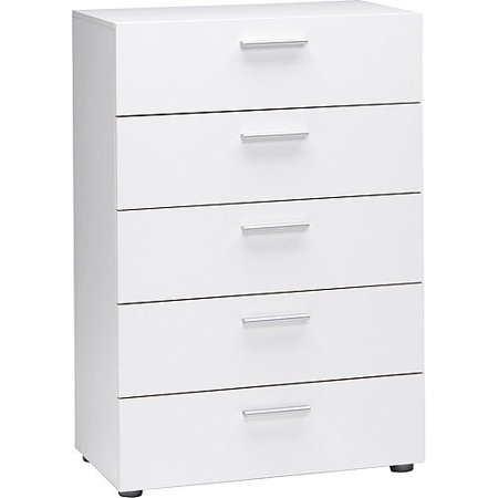 Loft Collection 5-Drawer Dresser, White