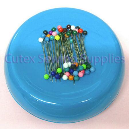 GRABBIT Magnetic Pincushion + 50 Pins / Sewing Pin Holder Cushion ()