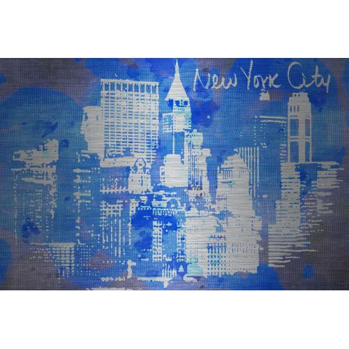 Marmont Hill New York Skyline Metal Art Printed on Brushed Aluminum