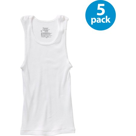 Hanes Boys Comfortsoft Cotton Tagless Tank Undershirt 5 Pack