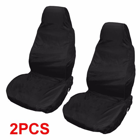 Black Vines - 2x Front Universal Waterproof Nylon Car Van Auto Vehicle Seat Cover Protector Black