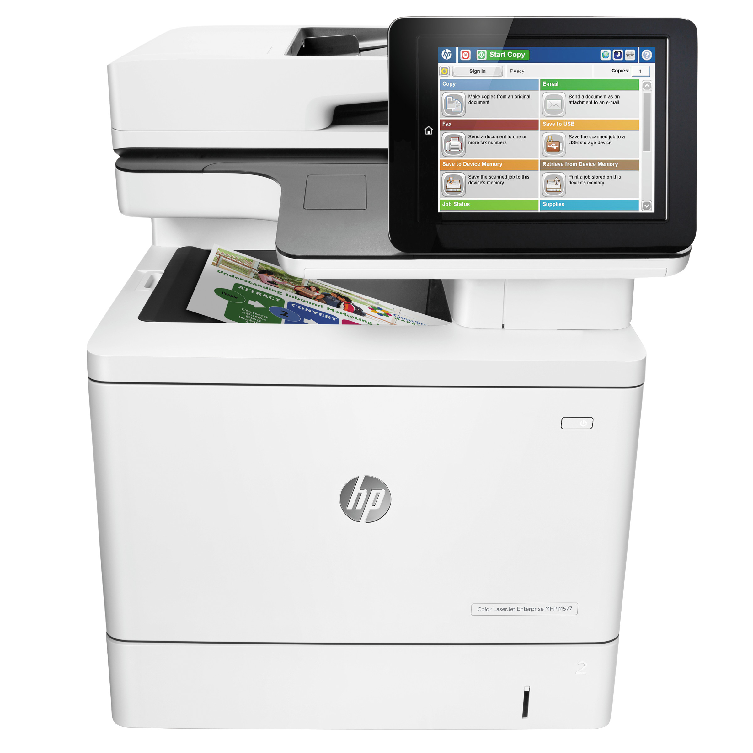 HP Color LaserJet Enterprise MFP M577dn, Copy/Print/Scan -HEWB5L46A