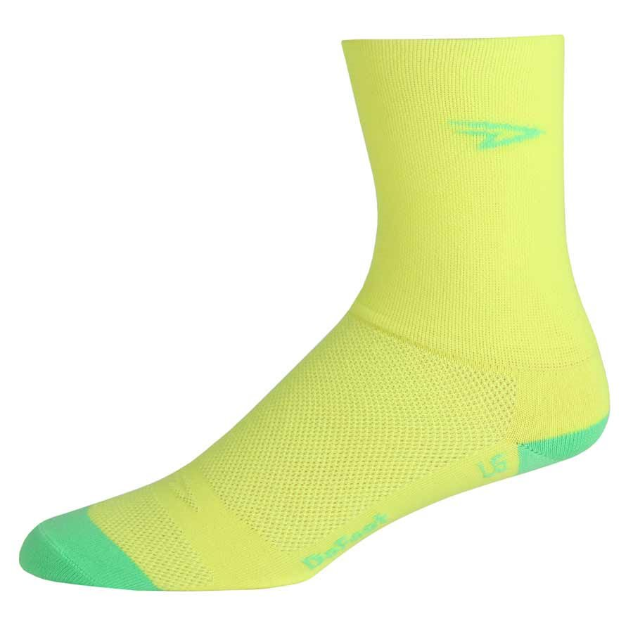 """DeFeet Aireator Tall Neon Yellow MD 5"""" Cuff - High Visibility"""