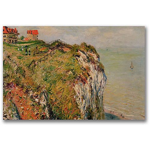 "Trademark Fine Art ""Cliff At Dieppe, 1882"" Canvas Wall Art by Claude Monet"