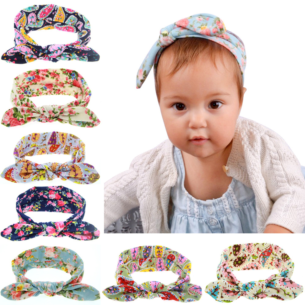 10 Pcs Head Wrap, Coxeer Rabbit Ears Paillette Clips Fashion Headbands Hair Accessories For Teens Women Girls Kids Baby (Colorful)