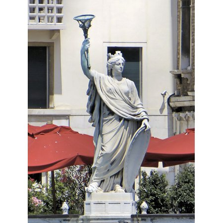 Carved Stone Sculpture (Canvas Print Stone Carving Statue Venice Italy City Sculpture Stretched Canvas 10 x 14)