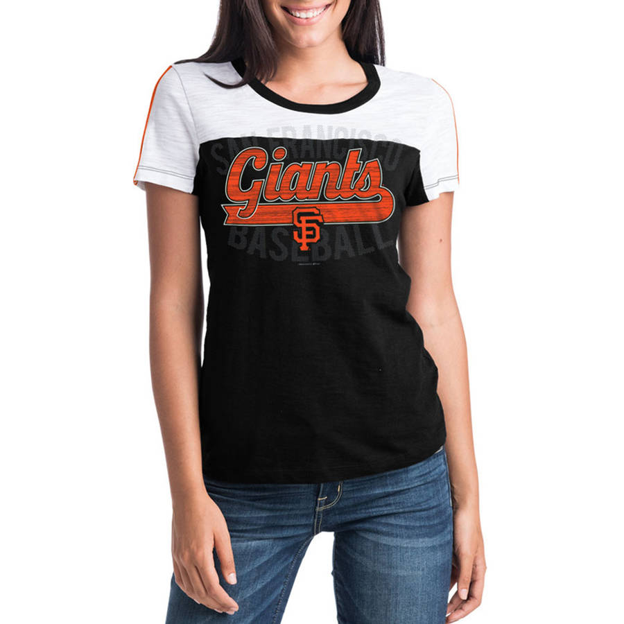 MLB San Francisco Giants Women's Short Sleeve Team Color Graphic Tee